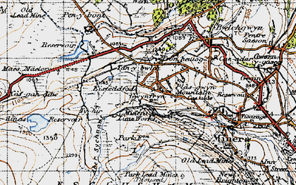 Old map of Aber Sychnant in 1947