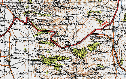 Old map of Gyrn in 1947