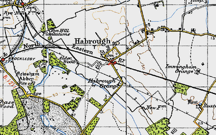 Old map of Habrough in 1946
