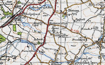 Old map of Yieldingtree in 1947