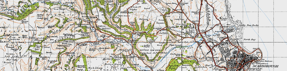 Old map of Wrench Green in 1947