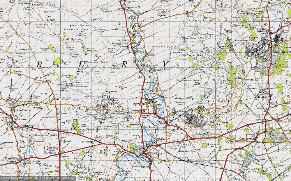 Old Map of Hackthorn, 1940 in 1940
