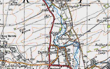 Old map of Hackthorn in 1940