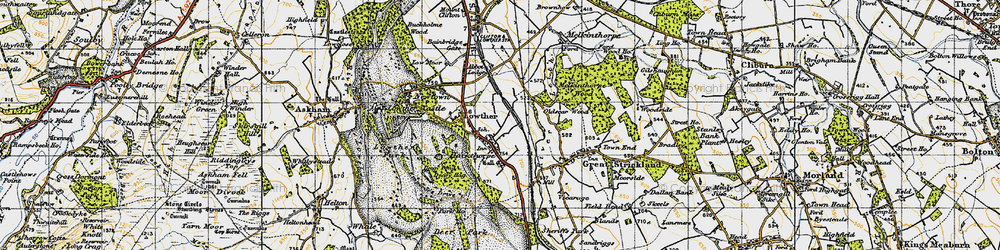 Old map of Abbott Lodge in 1947