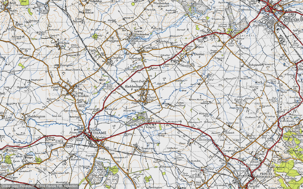 Old Map of Haddenham, 1946 in 1946