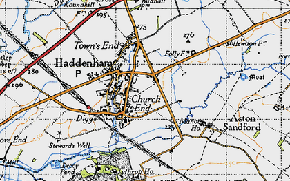 Old map of Haddenham in 1946