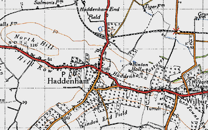 Old map of Linden End Field in 1946
