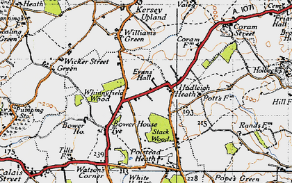 Old map of Yvans Hall in 1946