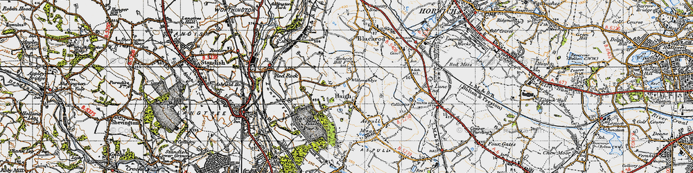 Old map of Willoughbys in 1947