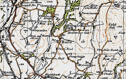 Old map of Whitehow Head in 1947