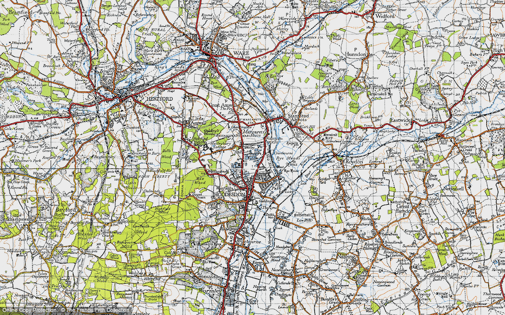 Old Map of Hailey, 1946 in 1946