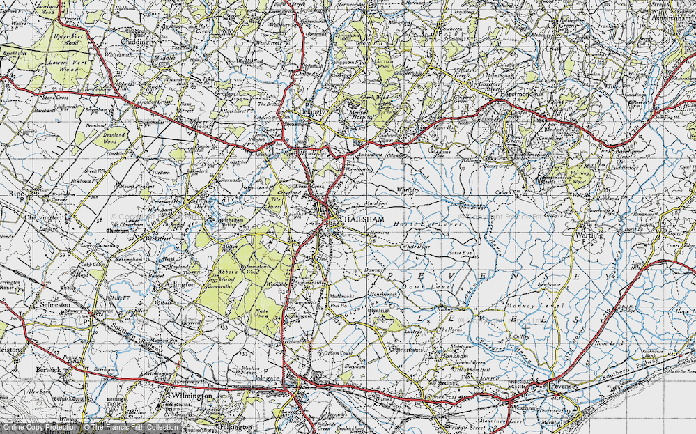 Old Map of Historic Map covering Lion Ho in 1940