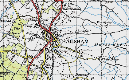 Old map of Lion Ho in 1940