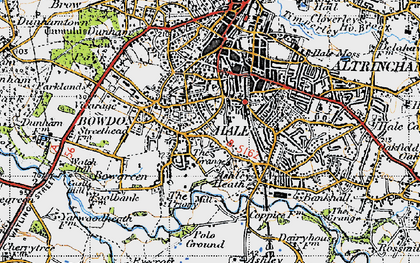 Old map of Hale in 1947