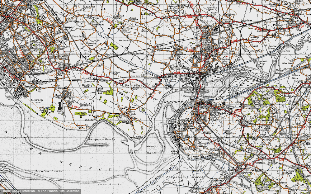 Old Map of Hale Bank, 1947 in 1947