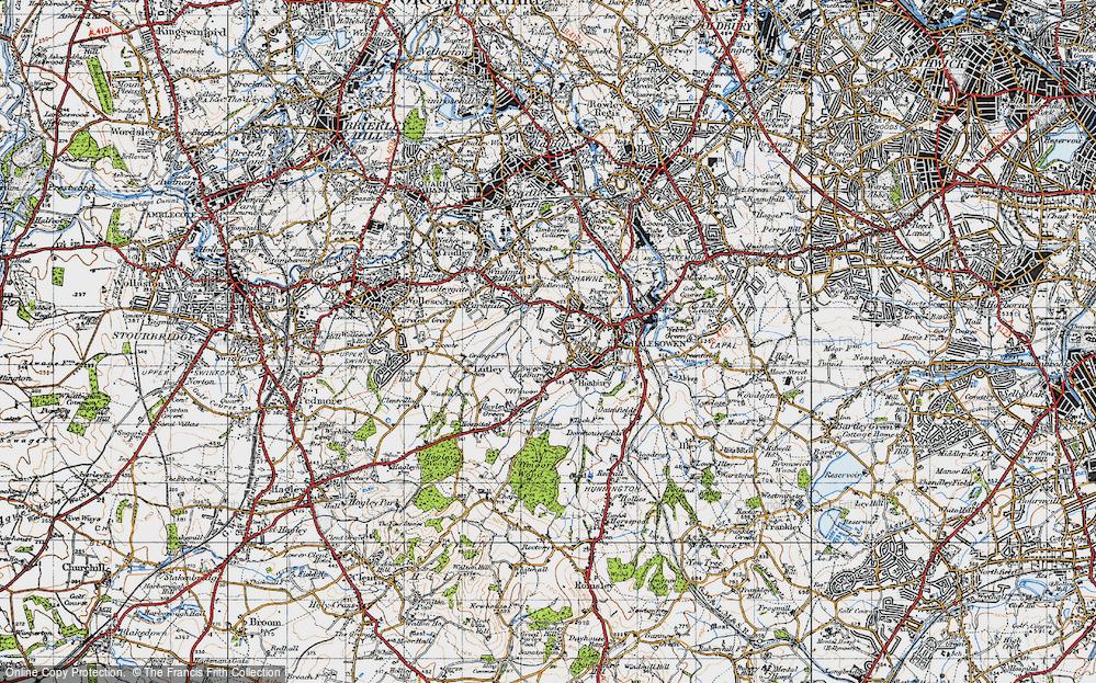 Map of Halesowen 1947 Francis Frith