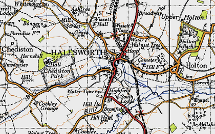 Old map of Halesworth in 1946