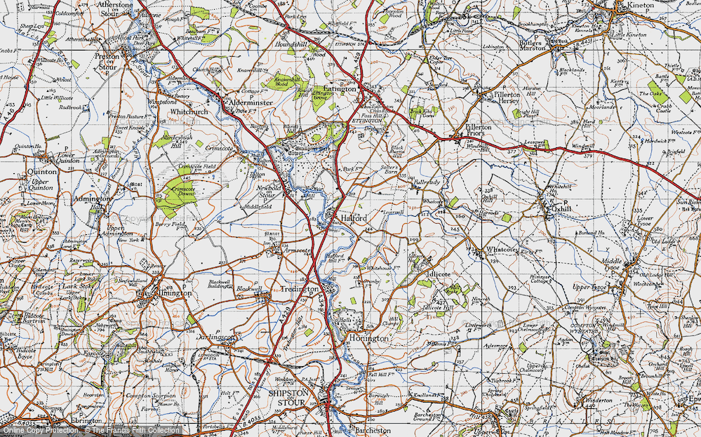 Old Map of Halford, 1946 in 1946