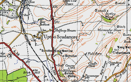 Old map of Halfway in 1946