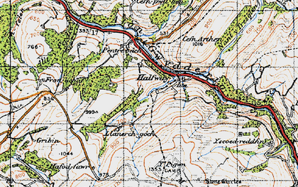Old map of Halfway in 1947