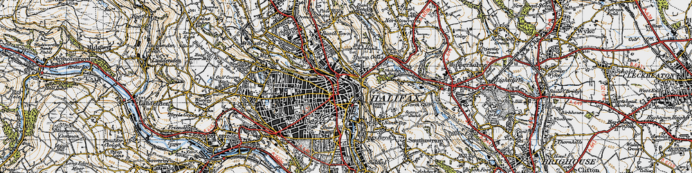 Old map of Halifax in 1947