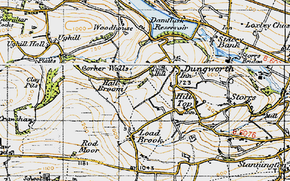 Old map of Tom Hill in 1947