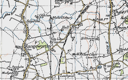 Old map of Yate Lower Common in 1946