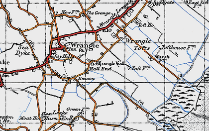Old map of Wrangle Hall in 1946