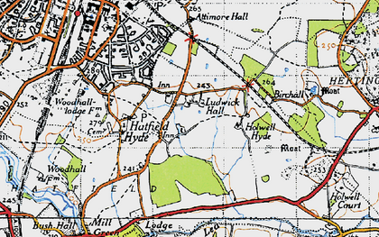 Old map of Hall Grove in 1946