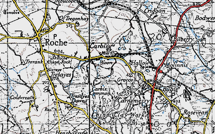 Old map of Hallew in 1946