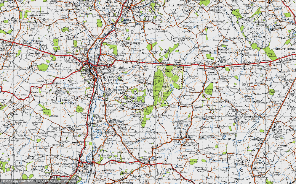 Old Map of Historic Map covering Woods, The in 1946