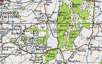 Old map of Woods, The in 1946