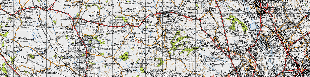 Old map of Wynbrook in 1946