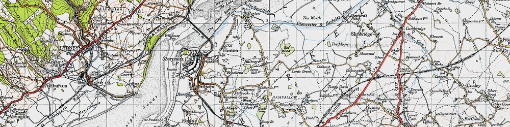 Old map of Acton Hall in 1946