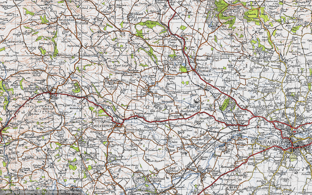 Old Map of Halse, 1946 in 1946