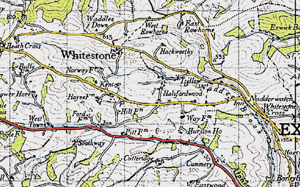 Old map of West Rowhorne in 1946