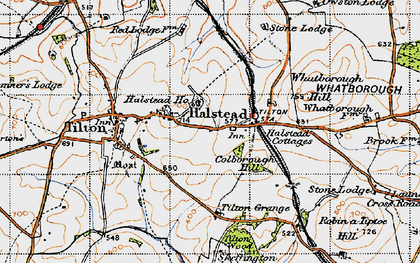 Old map of Tilton Grange in 1946