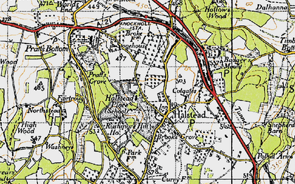 Old map of Halstead in 1946