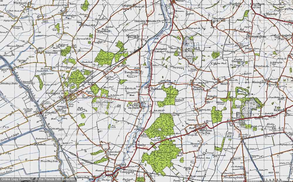 Old Map of Haltham, 1946 in 1946