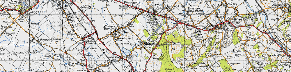 Old map of Halton in 1946