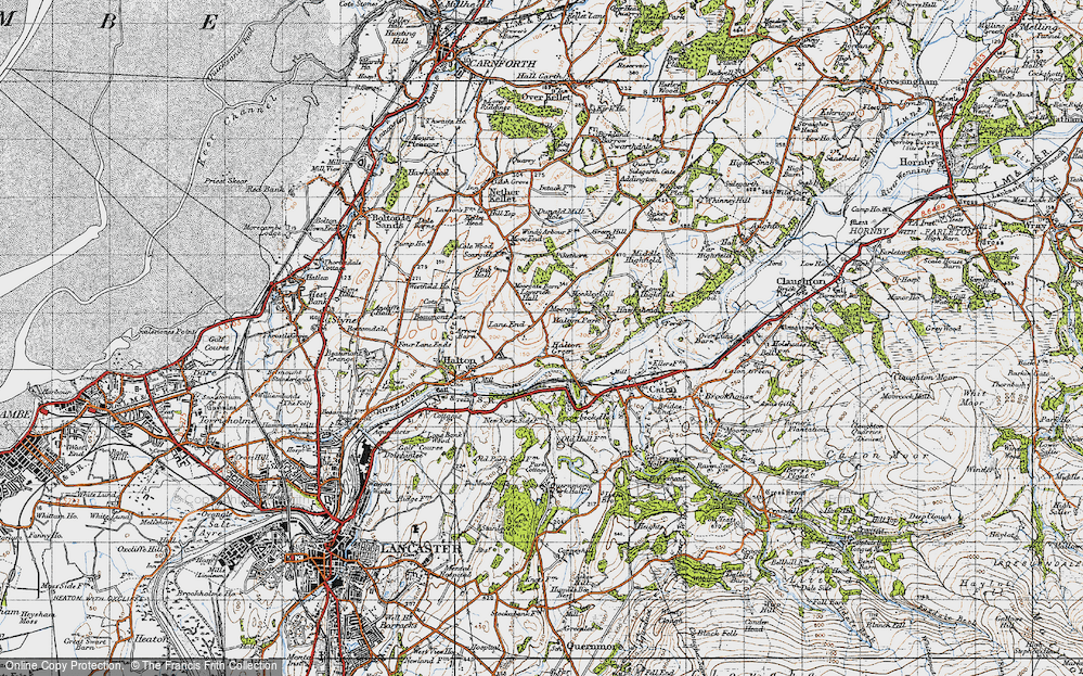 Old Map of Historic Map covering Laverick Hall in 1947