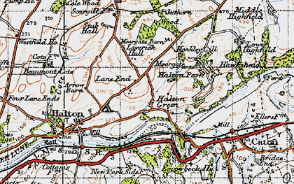 Old map of Laverick Hall in 1947
