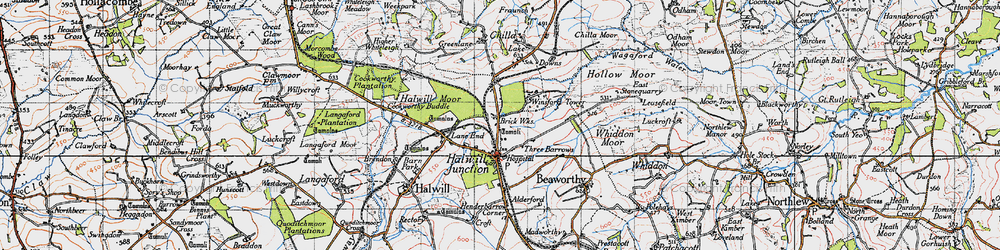 Old map of Winsford in 1946