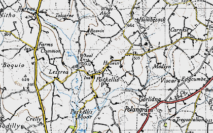 Old map of Halwin in 1946