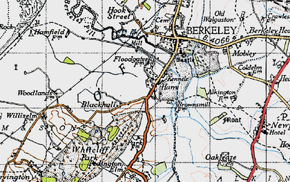 Old map of Ham Green in 1946