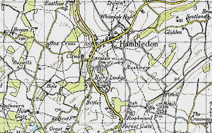 Old map of Hambledon in 1945