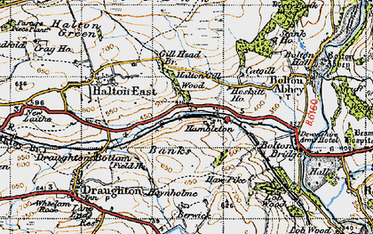 Old map of Barden Scale in 1947