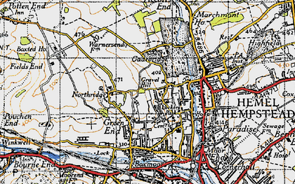 Old map of Hammerfield in 1946