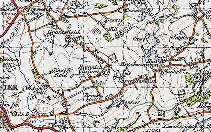 Old map of Bache in 1947