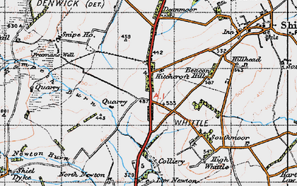 Old map of Whittle Colliery in 1947